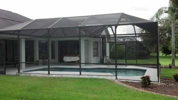 pool cage screen repair